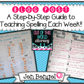 A Step-by-Step Guide to teaching Spelling Each Week
