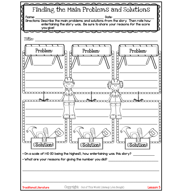 http://www.teacherspayteachers.com/Product/FreebieFinding-Problems-and-Solutions-During-Reading-1127360
