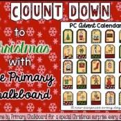 Primary Chalkboard Advent Calendar