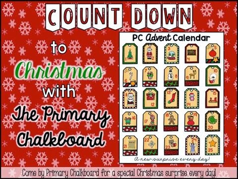 Primary Chalkboard Advent Calendar