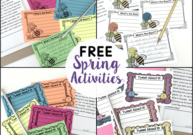 Reading Comprehension FREE Spring Activities!
