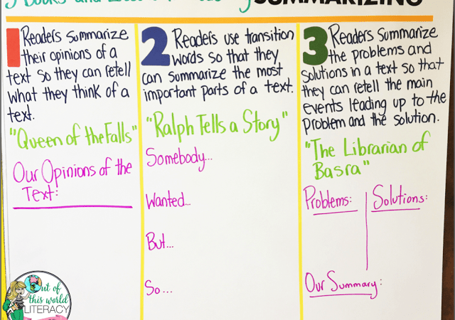 3 Books and Lessons to Teach Summarizing
