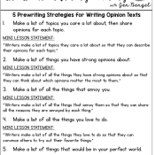 5 Prewriting Strategies for Writing Opinion Texts and FREEBIES!