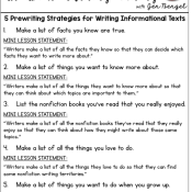 5 Prewriting Strategies for Writing Informational Texts and FREEBIES!