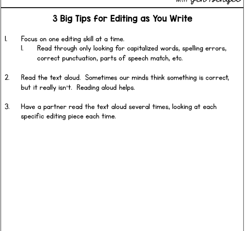 3 Practical Tips for Teaching Editing Skills