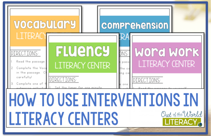 How to Use Interventions In Literacy Centers