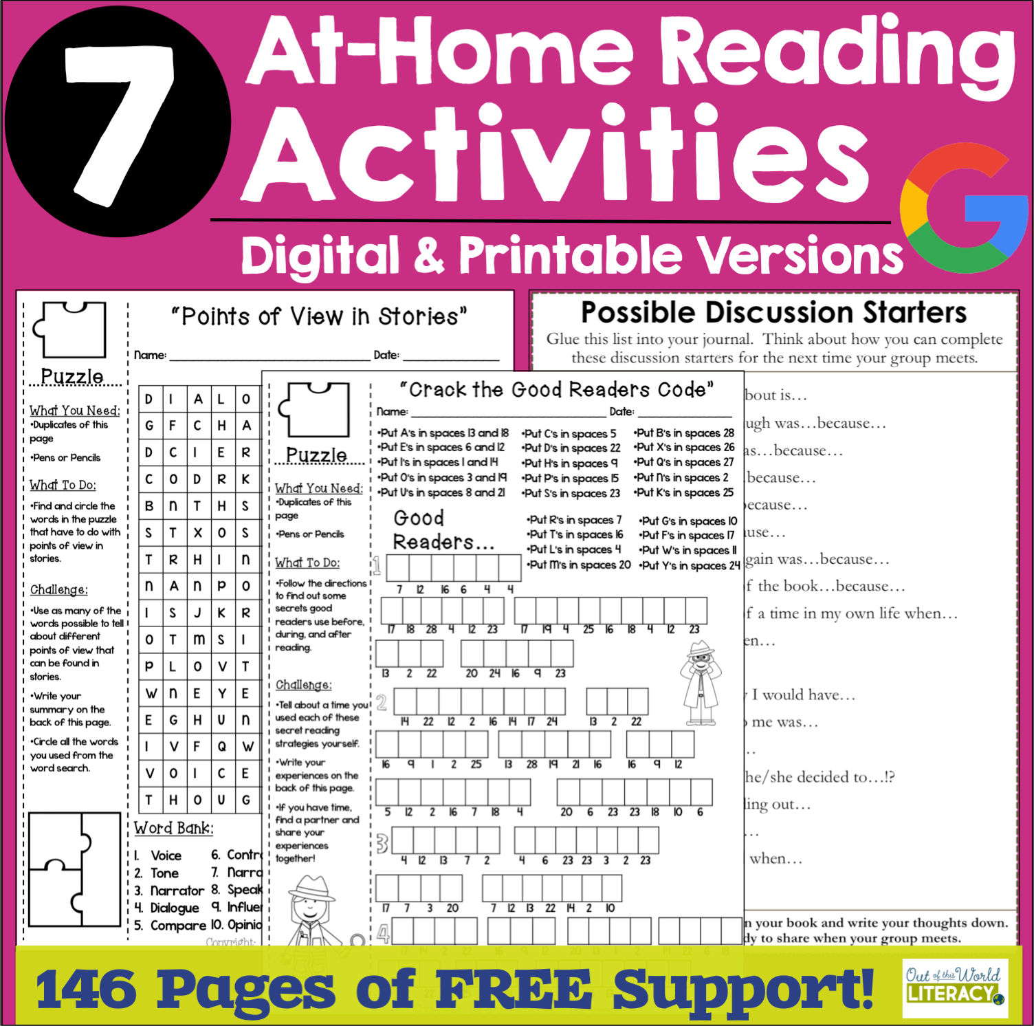 - 7 FREE At-Home Reading Activities - Out Of This World Literacy