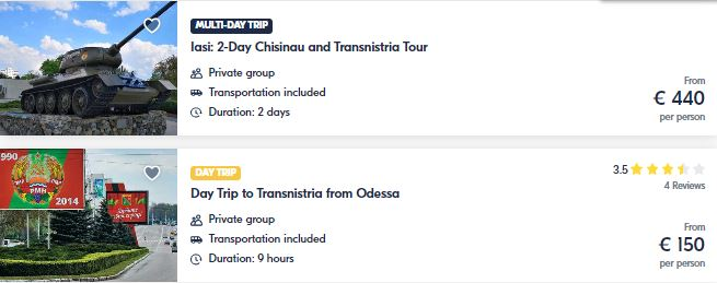 Best attractions in Transnístria