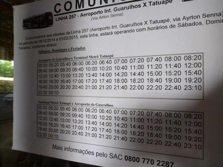 Horário Ônibus