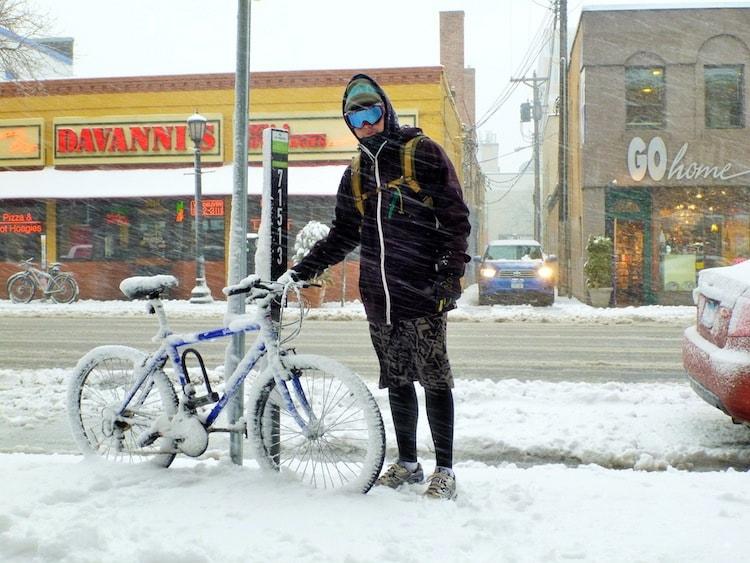 Bicicleta na neve