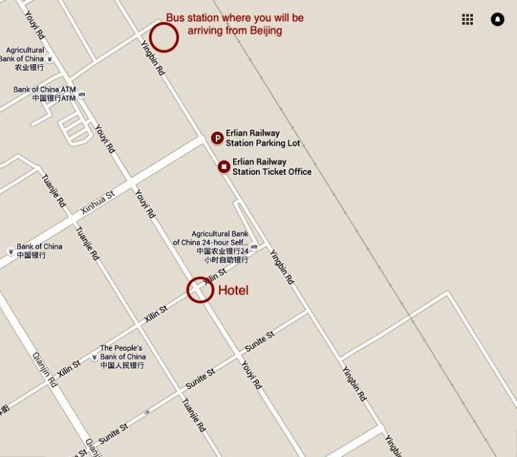 Erlian Erenhot Bus terminal map