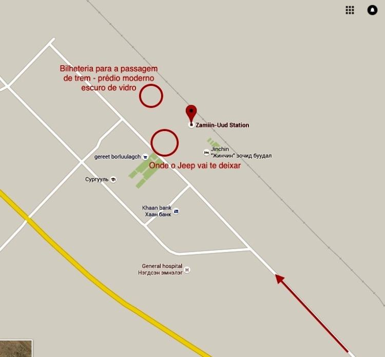 Mapa Zamiin Udd Mongólia