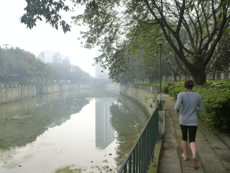 China Chengdu city pollution