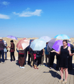 Funny crazy China sun umbrella