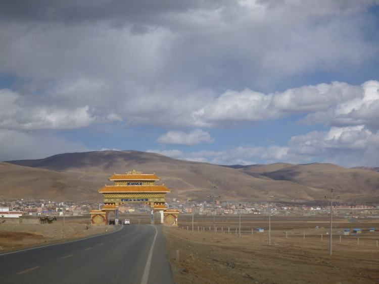 Gate Litang Tibet China
