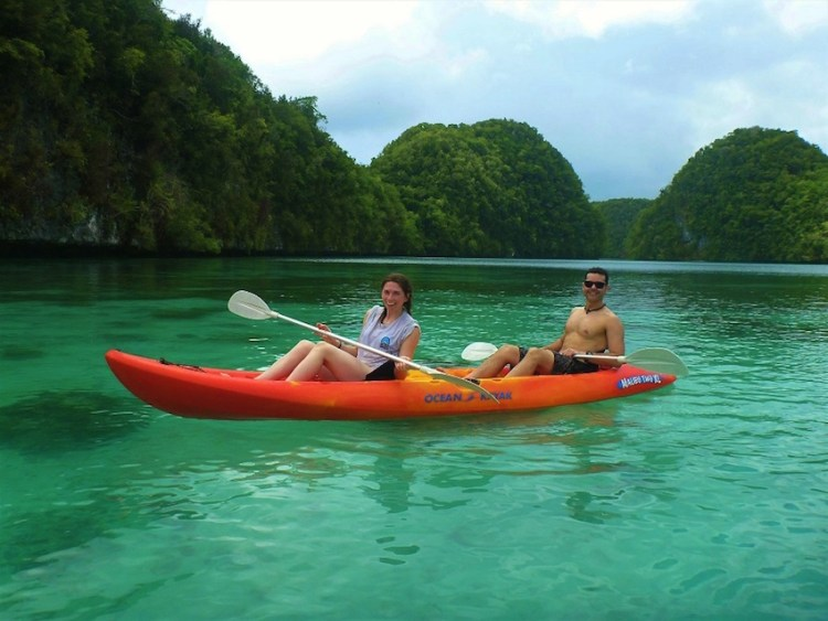 Kayaking at Rock Island Palau