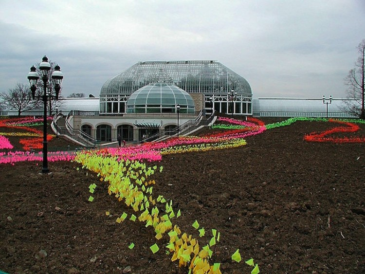 Outside of the Phipps Conservatory