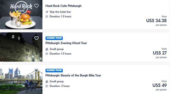 Best attractions in Pittsburgh
