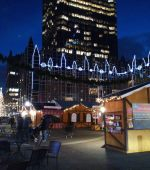 Christmas market downtown Pittsburgh