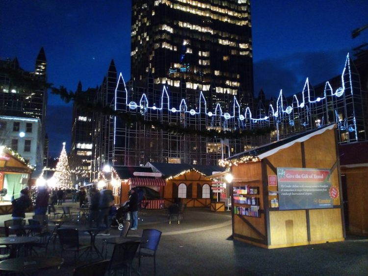 Christmas market downtown Pittsburgh