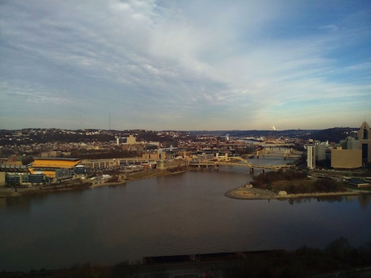 Vista de cima do Monte Washington Pittsburgh