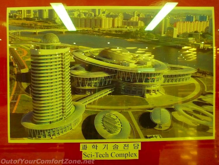 Pyongyang North Korea weird science building