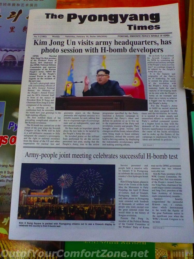 Pyongyang Time North Korea English propaganda H-bomb test