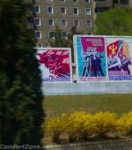 Pyongyang North Korea propaganda mural