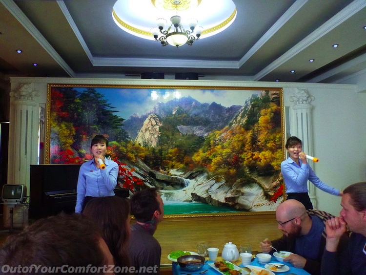 North Korea restaurant performance