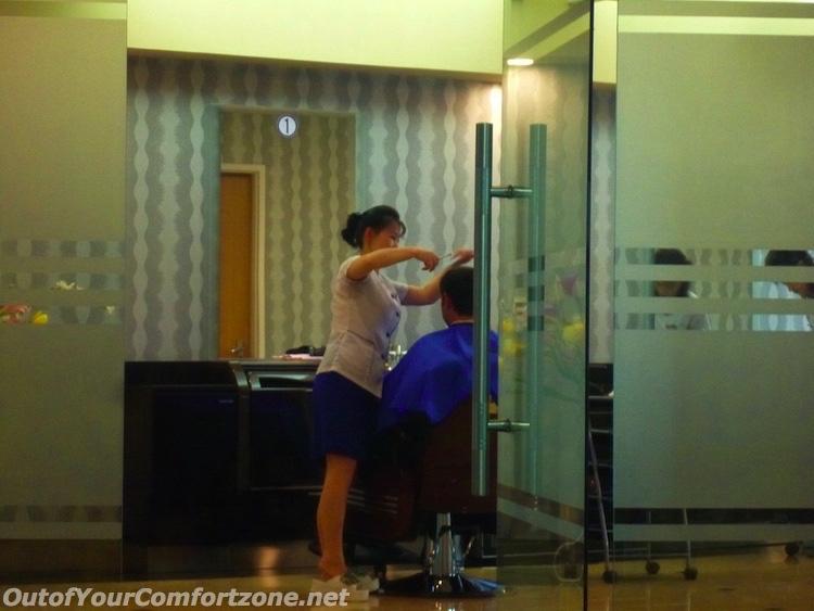 Having a haircut in North Korea