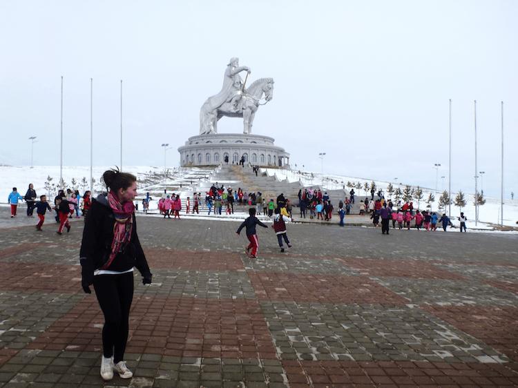 big Genghis Khan statue Mongolia