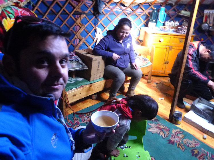 inside a ger nomadic family life Mongolia