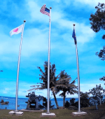 American Japanese flag Guam