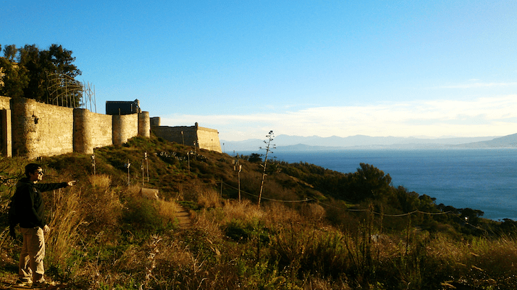 Ceuta's fortress on Mount Hacho