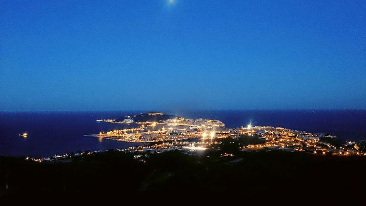 View of Ceuta from top of San Isabel II Overlook