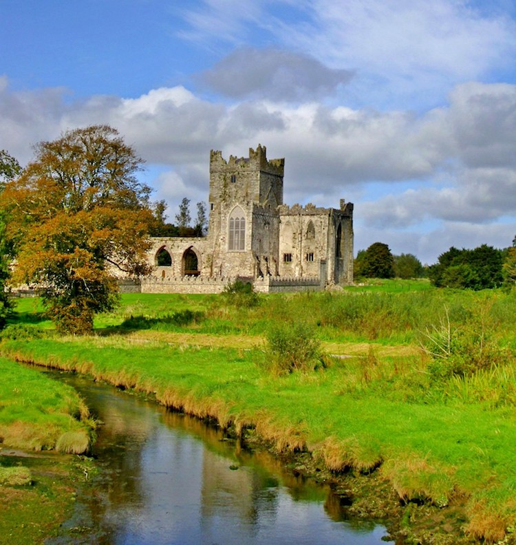 Castle and river in Ireland