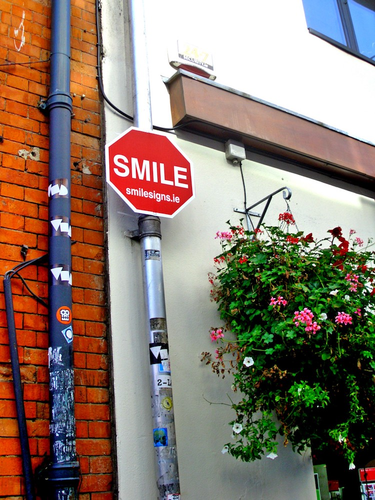 Smile sign in Ireland