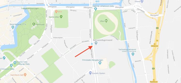 Mapa Gotemburgo