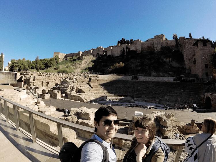 malaga spain roman theater ruins