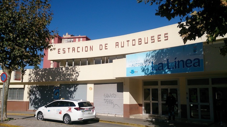La linea spain gibraltar bus station