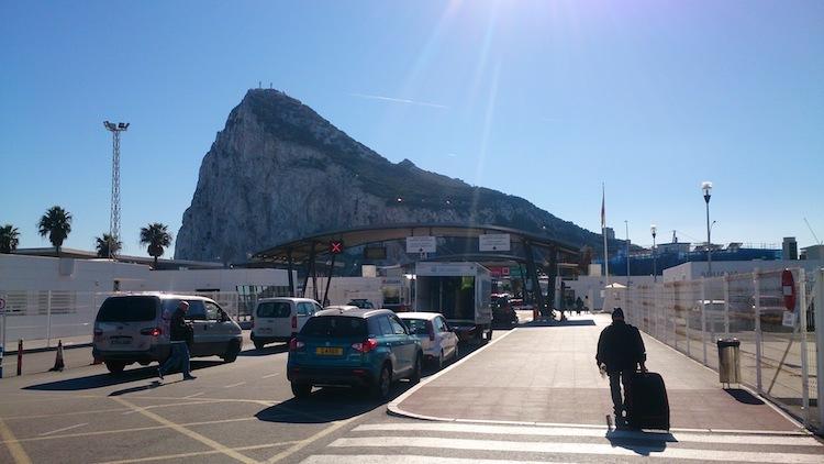 Gibraltar rock border Spain
