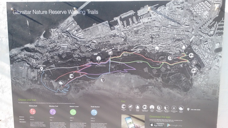 O Rochedo de Gibraltar map trilha