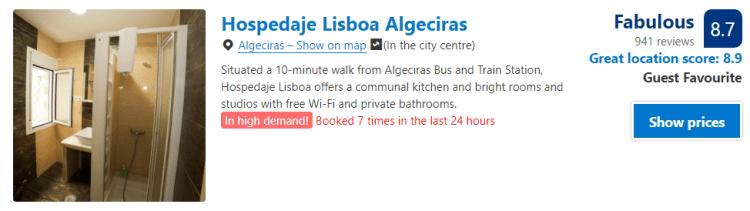 Guesthouse Algeciras Spain