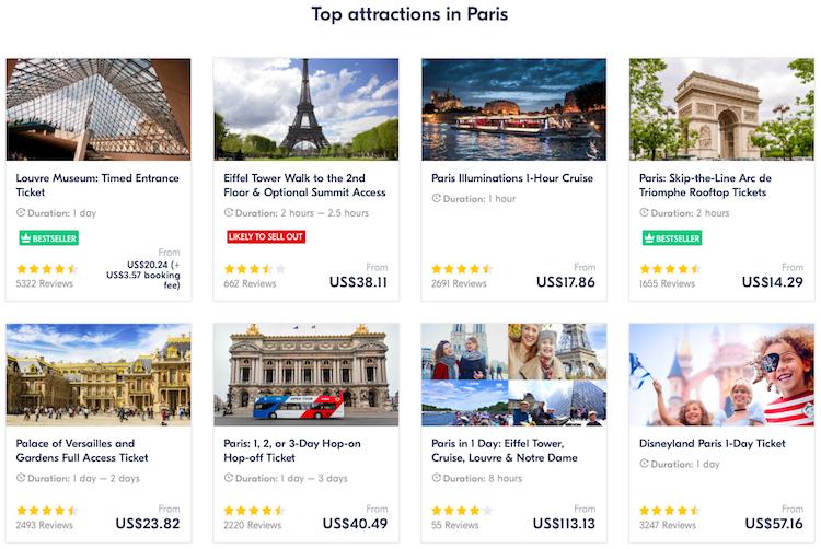 Tours around the world
