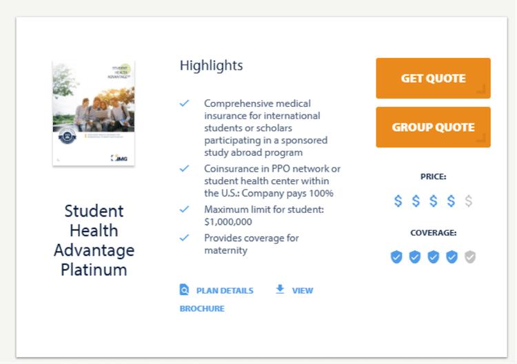 Seguro-saúde internacional para estudantes j1