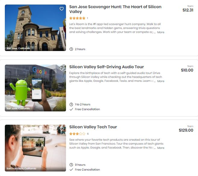 Best attractions in Silicon Valley
