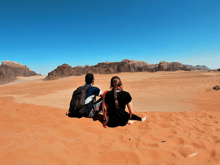 Couple in the desert