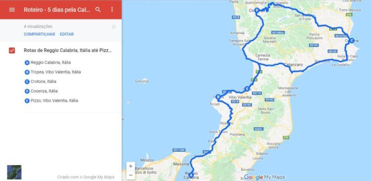 Calabria Itinerary