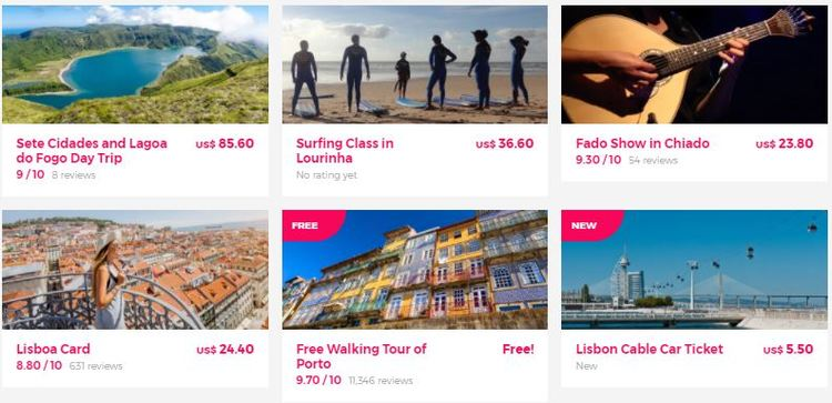 Best tours in Portugal