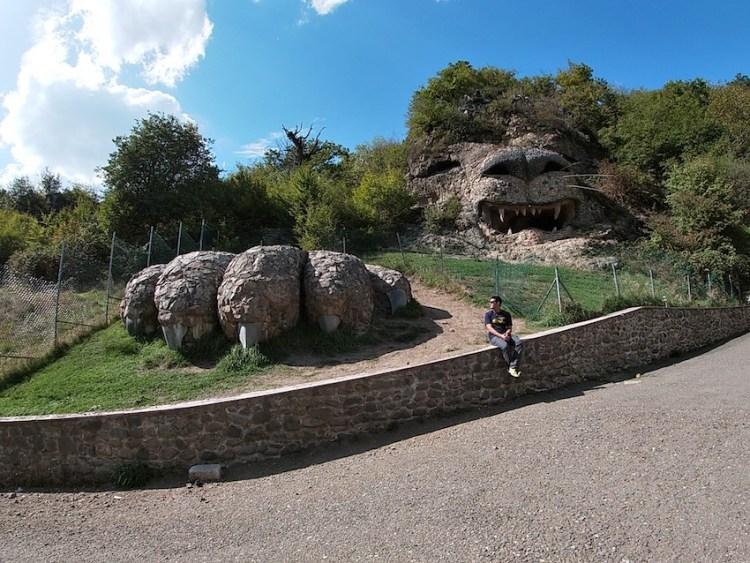 Giant lion sculpture in Vank Armenia Nagorno Karabakh Artsakh
